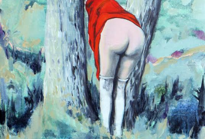 woman in red, the end of inocence